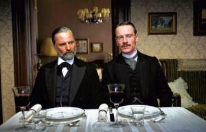 Freud and Jung as played by Mortensen and Fassbender