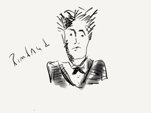 rimbaud drawing