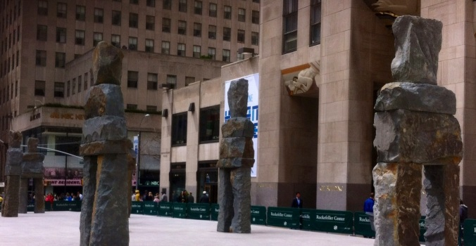 "Ugo Rondinone's ""Human Nature"" Installation, Rockerfeller Center, NYC photo: 2013 jpbohannon"