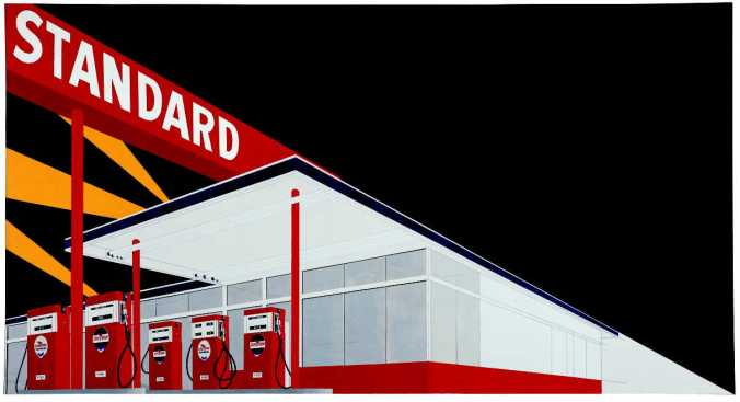 Standard Station, 1966, Ed Ruscha. (Park West Gallery)