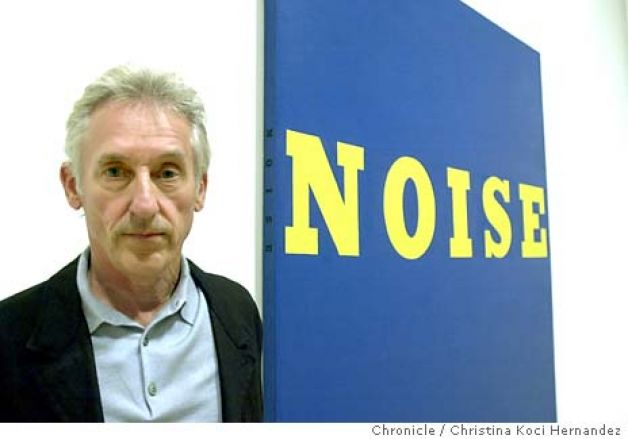 Ed Ruscha in front of Noise, 1966. Photo: CHRISTINA KOCI HERNANDEZ for San Francisco Chronicle