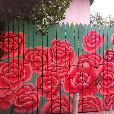 A Garden Fence of Roses (Bodine and Wildey Sts.)