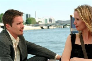Jesse and Celine (Ethan Hawke and Julie Delpy) in  Before Sunset2004