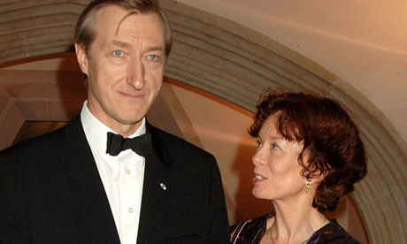 Julian Barnes with his wife, Pat Kavanagh in 2005. Photograph: Dave M. Benett/Getty Images