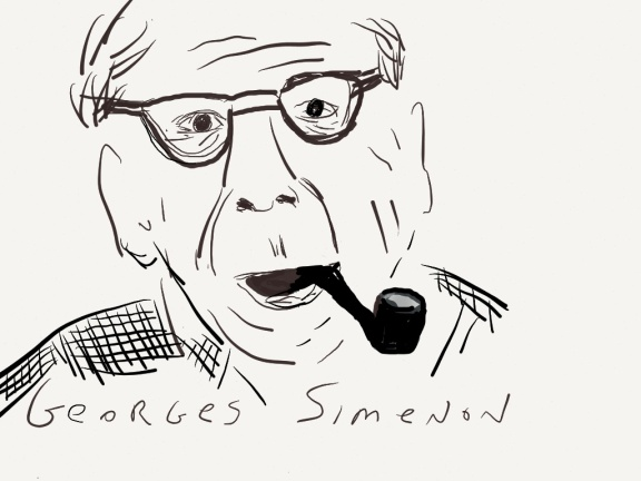 Georges Simenon illustration 2013 by jpbohannon