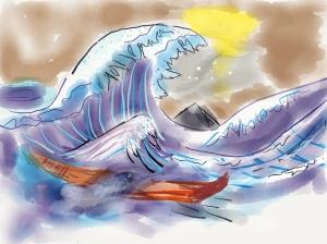 illustration 2014 by jpbohannon (after Hohusai)