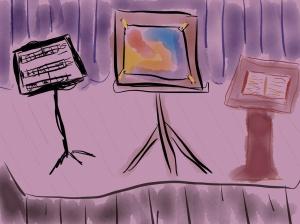 Music...Art...Literature Illustration 2014 by jpbohannon