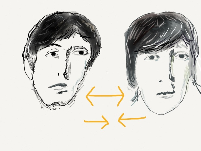 John and Paul/Paul and John illustration 2014 by jpbohannon