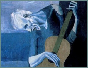 Picasso's Old Man Playing Guitar