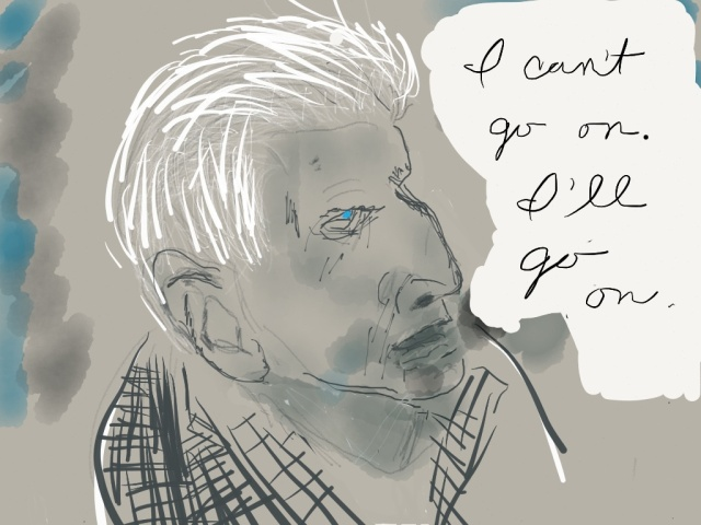 Samuel Beckett Illustration 2014 by jpbohannon