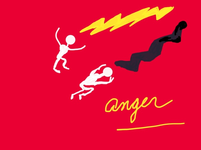 """Anger"" illustration 2015 by jpbohannon"