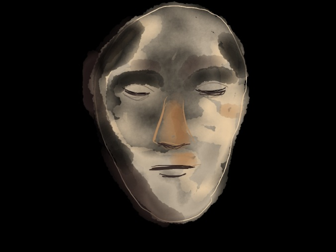 Death Mask of Napoleon illustration © 2015 by jpbohannon