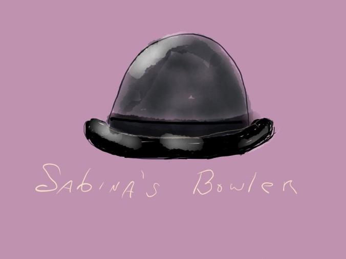 Sabina's Bowler illustration 2015 by jpbohannon