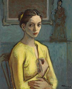Cynthia  A portrait by Moses Soyer (1954)
