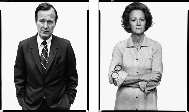 George H. W. Bush and Katherine Graham. Promotional photo for