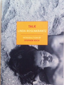 Cover of NYRB's  re-issue of Linda RosenKrantz's Talk