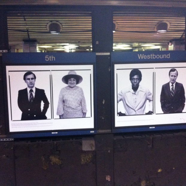 Subway poster advertising the Avedon exhibit photograph 2015 by jpbohannon